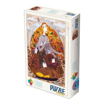 Puzzle  Dtoys-74102-KA03 Andrea Kürti - Fallen