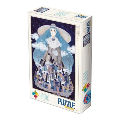 Puzzle  Dtoys-74102-KA04 Andrea Kürti - Winter