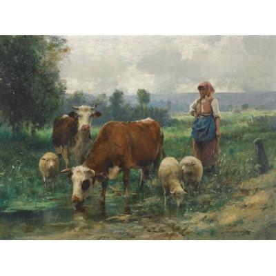 Puzzle Dtoys-74164 Julien Dupré: A Shepherdess with her Flock