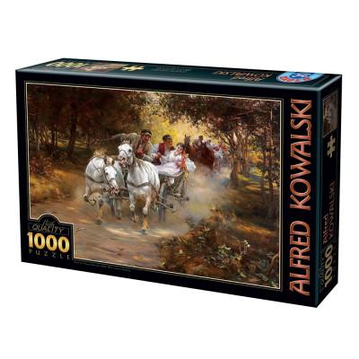 Puzzle  Dtoys-74324 Alfred Wierusz-Kowalski - Country Wedding