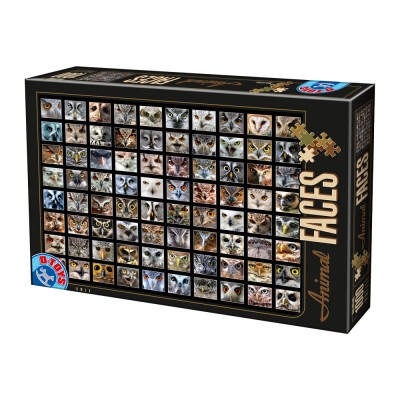 Puzzle  Dtoys-74331-AF01 Collage - Eulen