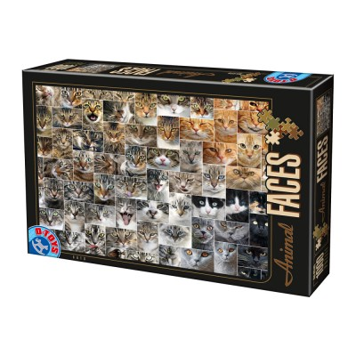 Puzzle  Dtoys-74331-AF02 Collage - Katzen