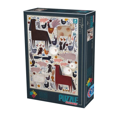 Puzzle Dtoys-74348-KA01-(74348) Andrea Kürti - Farm Animals