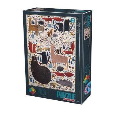 Puzzle  Dtoys-74348-KA02 Andrea Kürti - Wild Animals