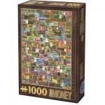 Puzzle  Dtoys-74362-VC04 Vintage Collage - Banknoten