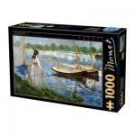 Puzzle  Dtoys-74522 Edouard Manet - Seine-Ufer bei Argenteuil