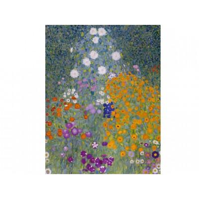 Puzzle  Dtoys-74546 Gustav Klimt: Garten in Blüte