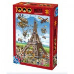 Puzzle  Dtoys-74683 Cartoon Collection - Eiffelturm