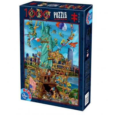 Puzzle  Dtoys-74706 Cartoon Collection - New York