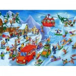 Puzzle  DToys-74713 Cartoon Collection - Winter