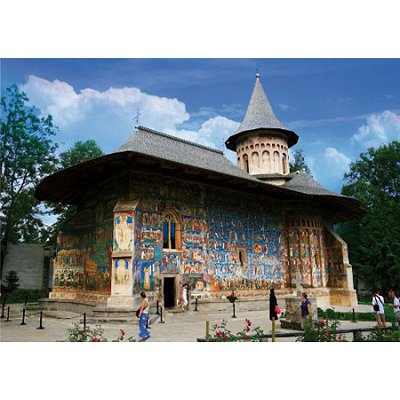 Puzzle  DToys-74751 Rumänien: Voronet Kloster