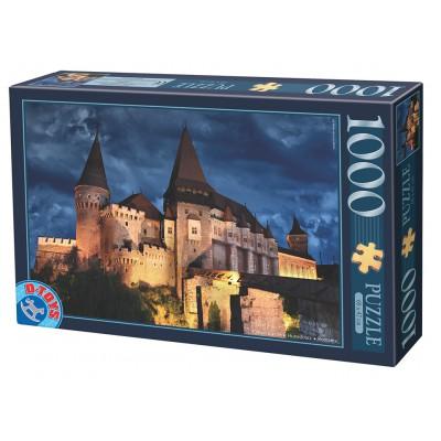 Puzzle  Dtoys-74775 Burg Hunedoara bei Nacht, Rumänien