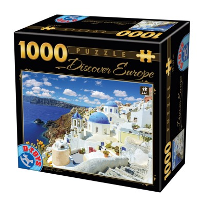 Puzzle Dtoys-74874 Discover Europe - Santorini