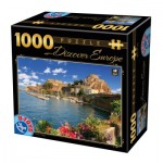 Puzzle  Dtoys-74881 Discover Europe - Como, Italien