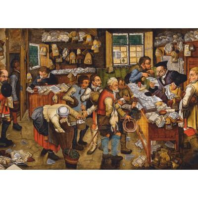 Puzzle  Dtoys-74942 Brueghel Pieter der Jüngere: Bezahlung des Zehnten, 1617-1622