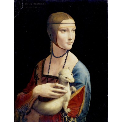 Puzzle  Dtoys-74973 Leonardo da Vinci: Dame mit dem Hermelin