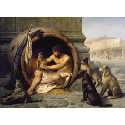 Puzzle  Dtoys-75017 Jean-Léon Gérôme: Diogenes, 1860