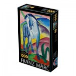 Puzzle  Dtoys-75147 Marc Franz: Blaues Pferd I