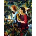 Puzzle  Dtoys-75154 August Macke: Zwei Mädchen