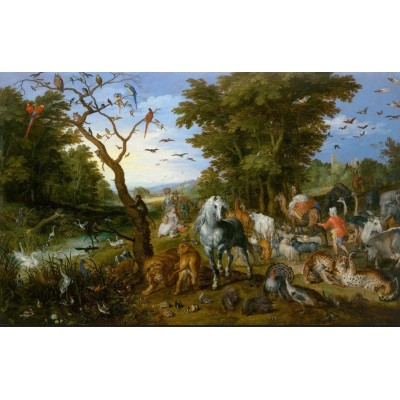 Puzzle  DToys-75253 Brueghel Pieter - Noah's Ark