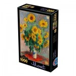Puzzle  Dtoys-75864 Claude Monet - Bouquet of Sunflowers