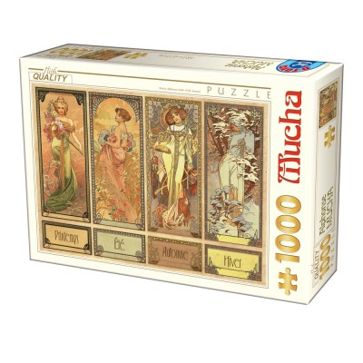 Puzzle  Dtoys-75901 Mucha Alfons - Seasons