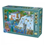 Puzzle  Dtoys-75932 Cartoon Collection - Niagara Falls
