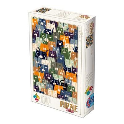 Puzzle  Dtoys-76847 Andrea Kürti - Cats