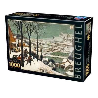 Puzzle Dtoys-76878 Pieter Brueghel the Elder - Hunters in the Snow