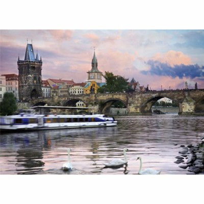 Puzzle  DToys-77240 Tschechien - Prag