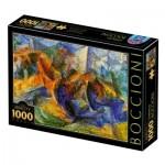 Puzzle  Dtoys-77370 Umberto Boccioni - Horse-Rider-Buildings