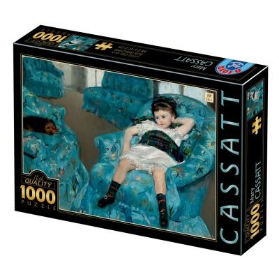 Puzzle  Dtoys-77387 Mary Cassatt : Little Girl in a Blue Armchair