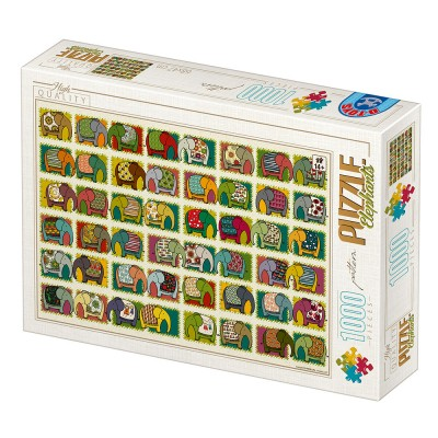 Puzzle  Dtoys-77516 David Katai Eszter : Pattern Elephants