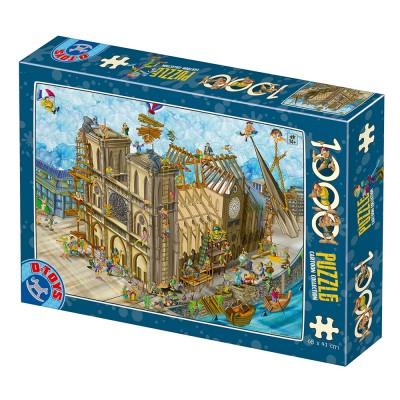 Puzzle Dtoys-77752 Cartoon Collection - Notre Dame
