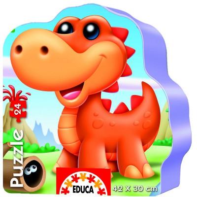 Educa-14960 24 Teile Formpuzzle - Dinos