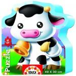 Educa-14961 24 Teile Formpuzzle - Kuh
