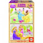 Educa-15283 Holzpuzzleset - Disney Prinzessinnen