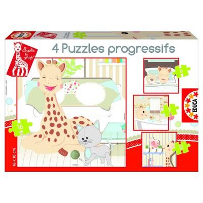Educa-15491 Puzzleset mit steigenden Teilezahlen - Sofie die Giraffe