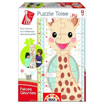 Educa-15505 Messlattenpuzzle mit 32 Riesenteilen: Sofie die Giraffe