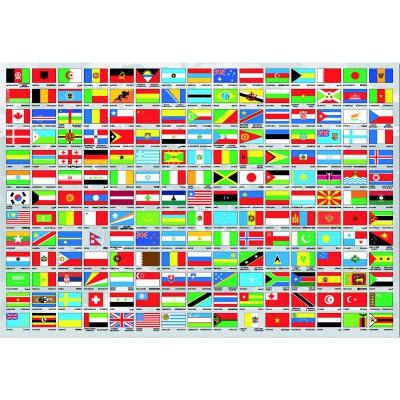 Puzzle  Educa-15530 Flaggen der Welt