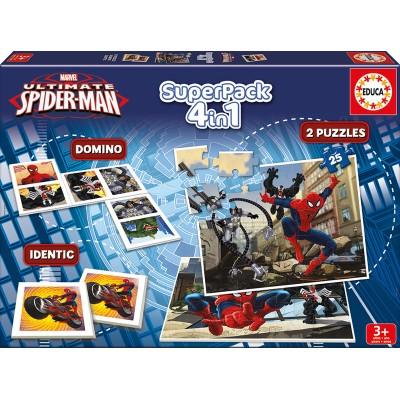 Educa-15675 2 Puzzles + Domino + Identic - Spider-Man