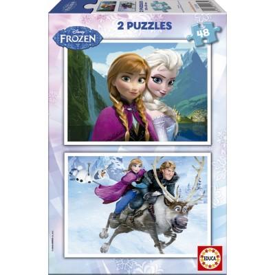 Educa-15768 2 Puzzles - Disney Eiskönigin - Frozen