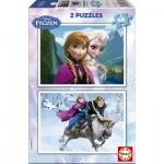 Educa-15768 2 Puzzles - Disney Eiskönigin - Frozen