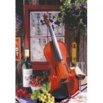 Puzzle  Educa-15790 Alberto Rossini - Violin and Still Life with Grapes