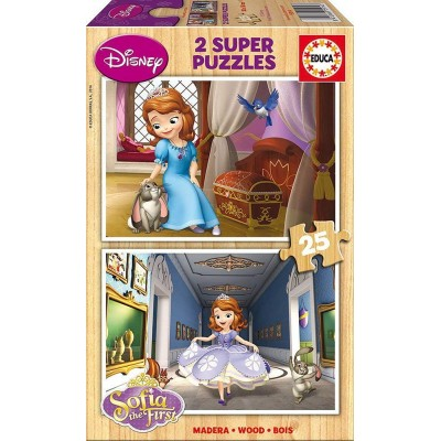 Educa-15914 2 Holzpuzzles - Sofia the First