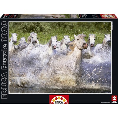 Puzzle  Educa-15988 Weiße Camarguepferde