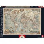 Puzzle  Educa-16005 Politische Weltkarte