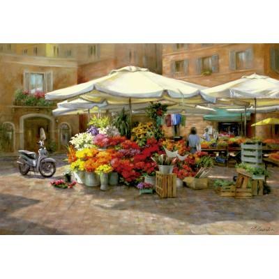 Puzzle  Educa-16010 Blumenmarkt