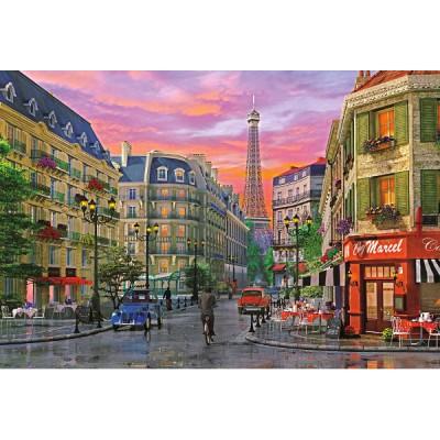 Puzzle  Educa-16022 Dominic Davison: Straße in Paris
