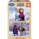 Educa-16162 2 Holzpuzzles - Frozen